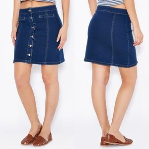 DOROTHY PERKINS | Button-up Jeans Skirt